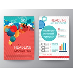 Abstract Circle design Brochure Flyer Layout vector image