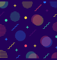 Abstract colorful seamless geometric pattern in vector