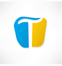 Abstract icon based on the letter t vector