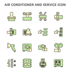 Air conditioner installation and cleaning service vector