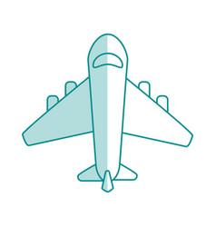 Airplane flat shadow vector