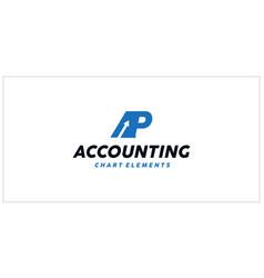 Ap accounting financial logo vector