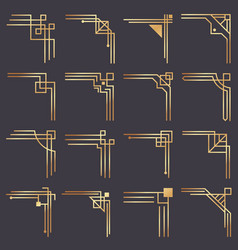 art deco corner modern graphic corners for vector image