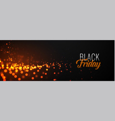 awesome black friday glowing particles banner vector image