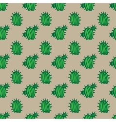 background cactus pattern vector image vector image