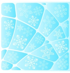 background mosaic with snowflakes vector image