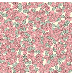 background with many red roses vector image