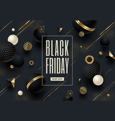 black friday black and gold template design vector image