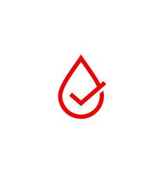 blood sauce drop check logo icon vector image
