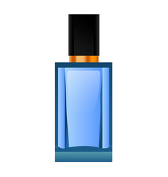 blue perfume bottle mockup realistic style vector image