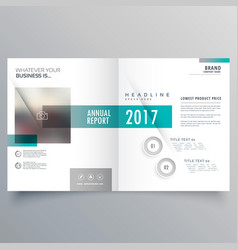 Booklet cover layout template presentation vector