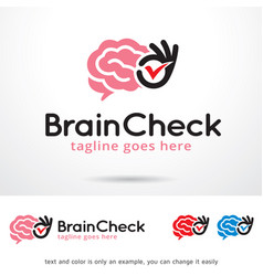 brain check logo template vector image