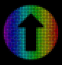 Bright pixel rounded arrow icon vector