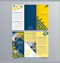 brochure design 827 vector image
