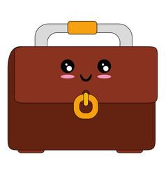 Business briefcase isolated kawaii cartoon vector