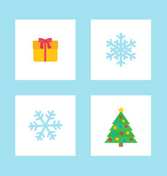 christmas present party paper decoration vector image