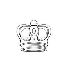 crown handdrawing doodle vector image