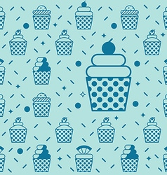 Cupcake seamless background vector image