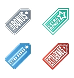 Extra bonus labels set vector image