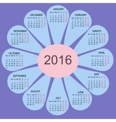 Flower petals simple 2015 year calendar vector