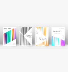 Flyer layout triangle splendid template for broch vector