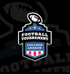 football college tournament emblem logo on a dark vector image