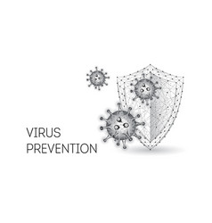 futuristic protection from covid-19 disease vector image