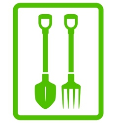 Garden landscaping tools icon vector
