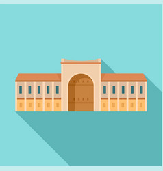 Gate city historical building icon flat style vector