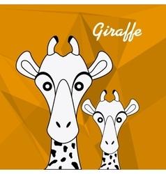 Giraffe icon Animal design Safari concept vector image vector image