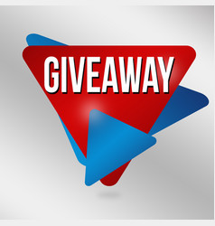 giveaway label or sticker vector image