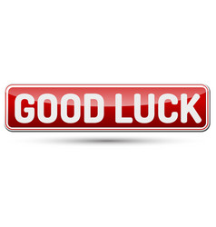 Good luck - abstract beautiful button with text vector