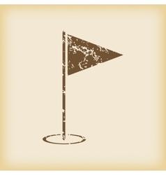 Grungy flagstick icon vector image
