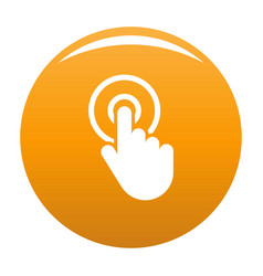hand cursor click icon orange vector image