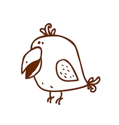 Hand Drawn Parrot vector image