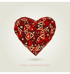 Happy valentines day Love greeting card with vector image