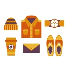Hipster style objects vector