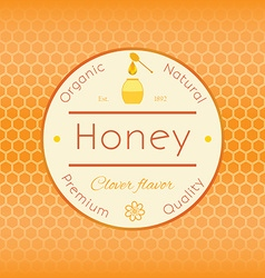 Honey label template for honey logo products with vector image