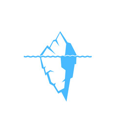 Iceberg on a white background icon vector