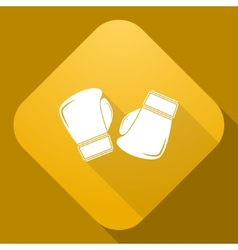 icon of Boxing Gloves with a long shadow vector image