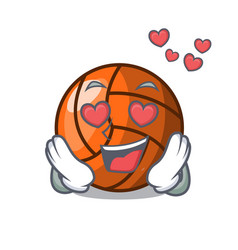in love volleyball mascot cartoon style vector image