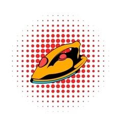 Iron icon comics style vector