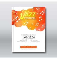Jazz music poster templates set Hand drawn vector