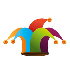 Jester hat accesory vector