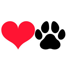 Love paw vector