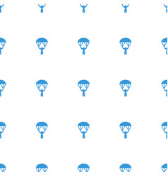Man with parachute icon pattern seamless white vector