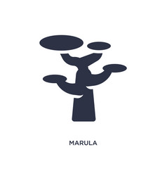 Marula icon on white background simple element vector
