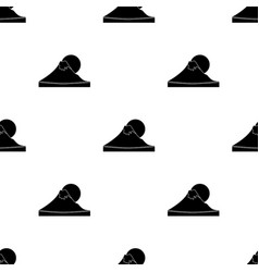 Mount fuji icon in black style isolated on white vector