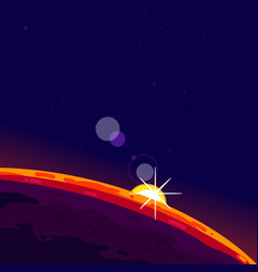 Outer space planet vector
