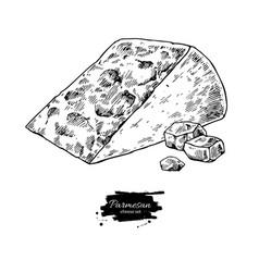 Parmesan cheese drawing hand drawn foo vector